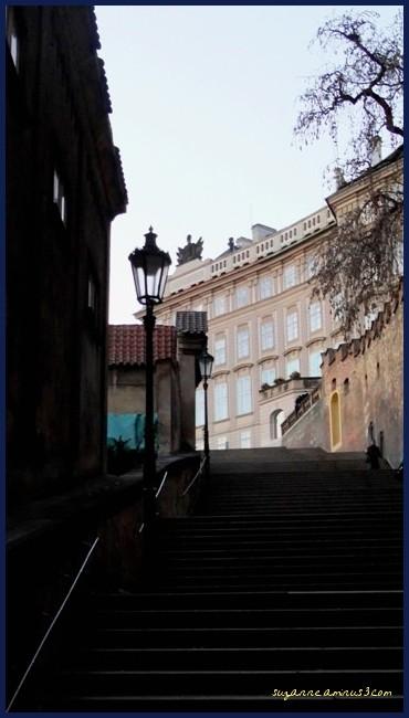 image, prague, silhouette, lamp, street