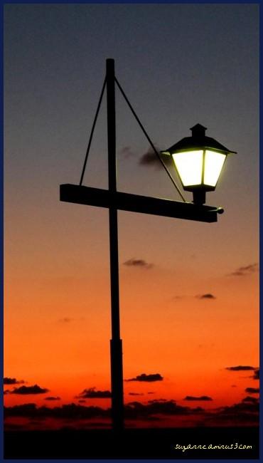 image, street, lamp, sunset, tel aviv, israel