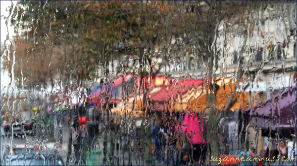 image, rain, window, blurred, paris