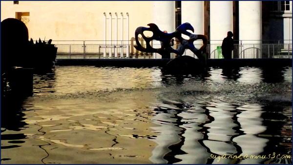 silhouette, image,person, taken, fountain, paris