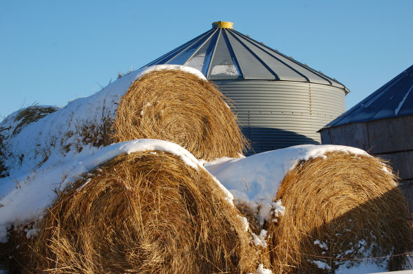 Bales and grainery