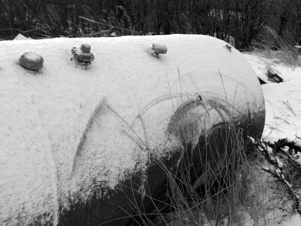 Grass + wind + snow + tank =