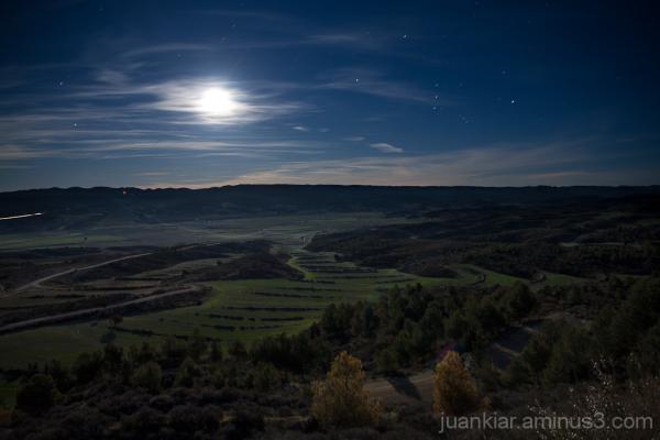 landscape under the moon light