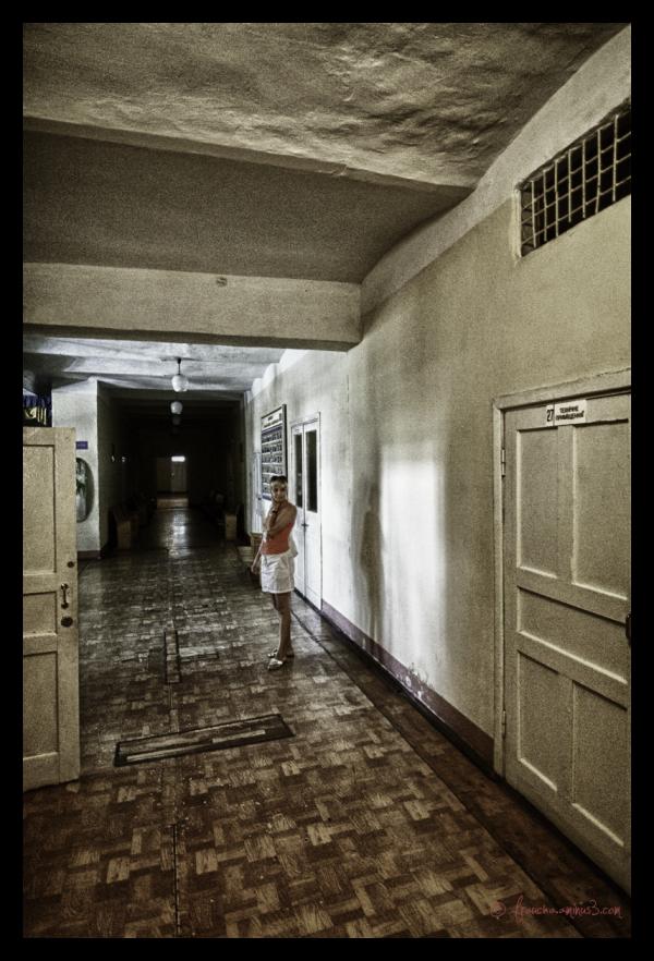Old Soviet Hospital Hallway
