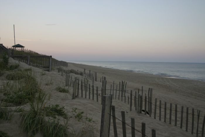 Looking down the Nags Head shoreline.