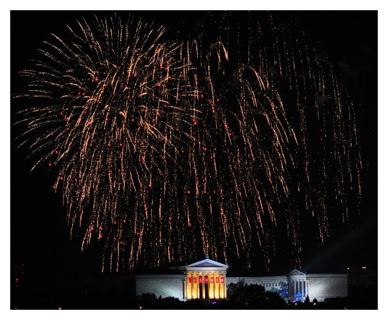 fireworks philadelphia independence day 2010