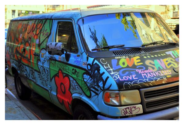 van, east village, new york city