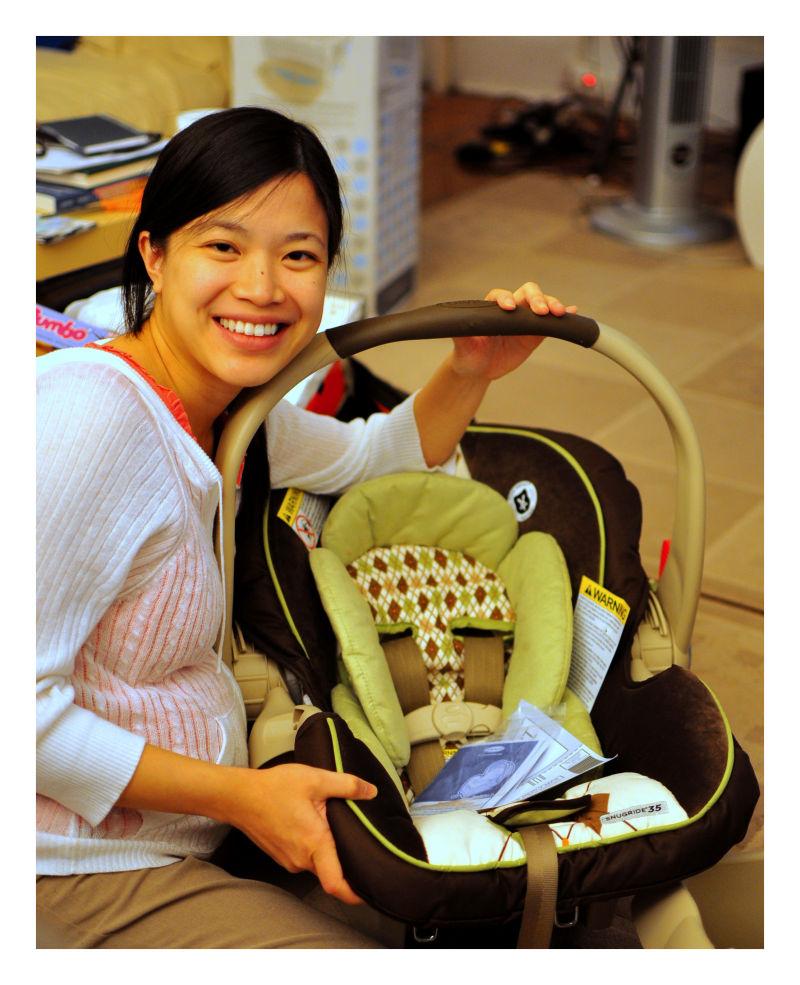 phi & joseph's car seat, fall 2010