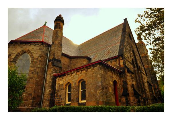 church on locust walk, philadelphia, fall 2010