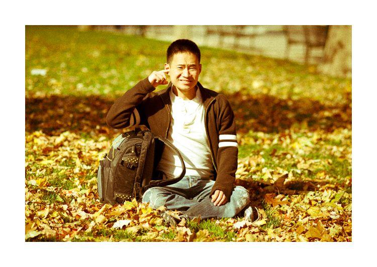 danny on the fall grass, philadelphia 2010