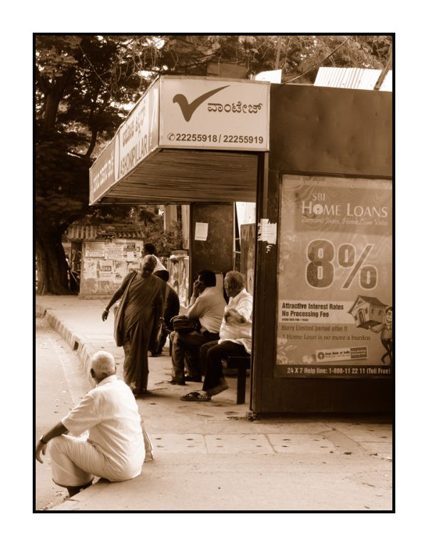 The wait at the bus-stop