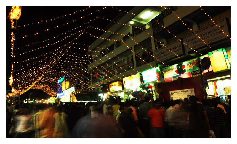 Festive crowds