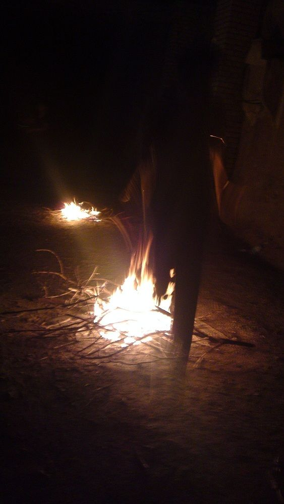 Jump on fire
