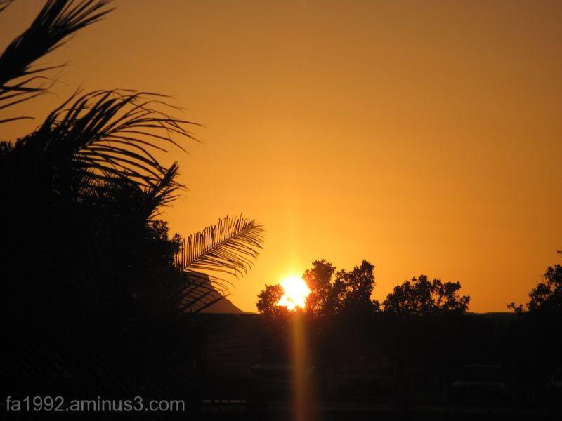 Sun's setting...