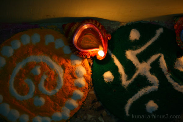 Rangoli and Diyas of Diwali