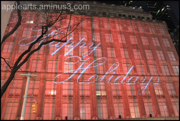 New York City Building Happy Holidays