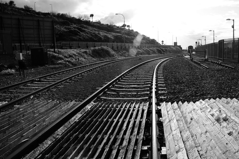 end of tracks.