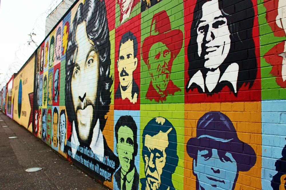 political murals.