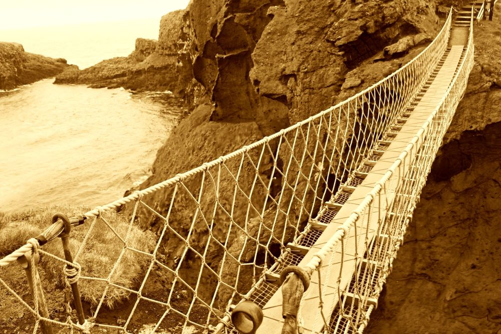rope bridge.
