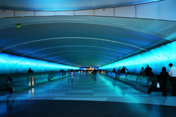 Michigan airport walkway