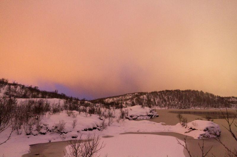 cloudy winter evening