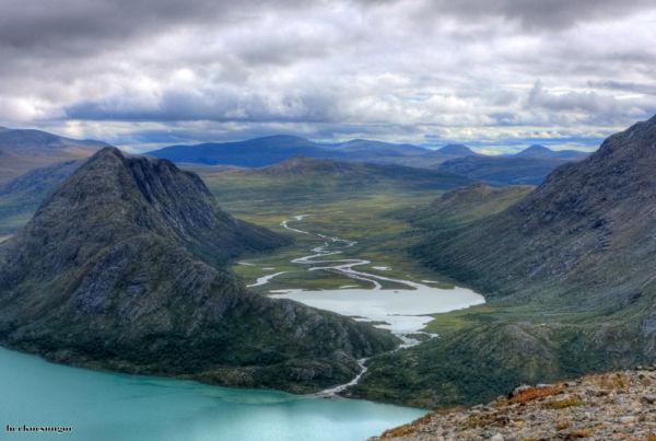 Besseggen hike in Norway.