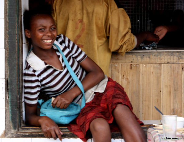 Malagasy girl smiling.