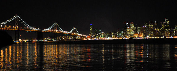 Night view Bay Bridge
