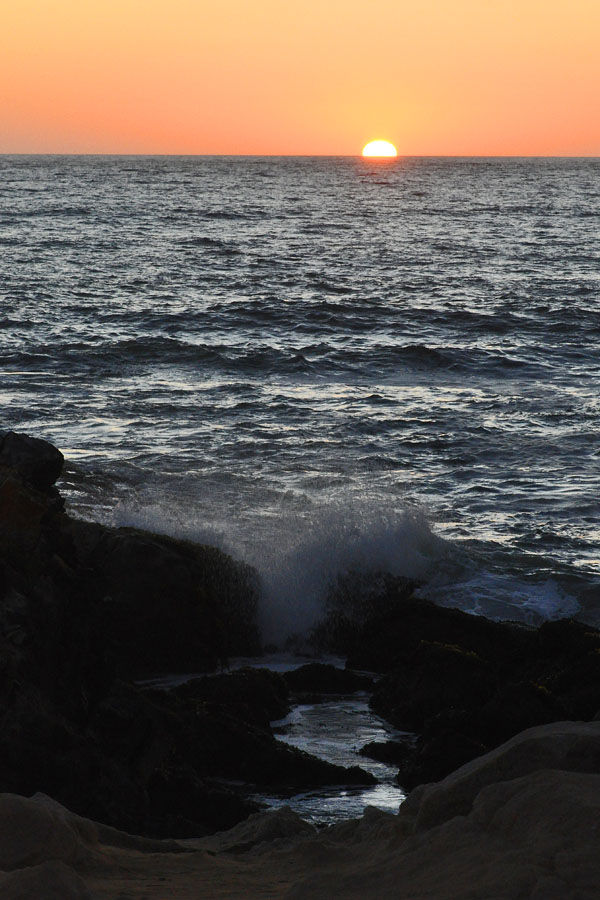 Sunset at Historic Pescadero Beach