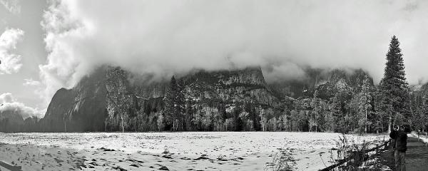 Panorama scenery Yosemite