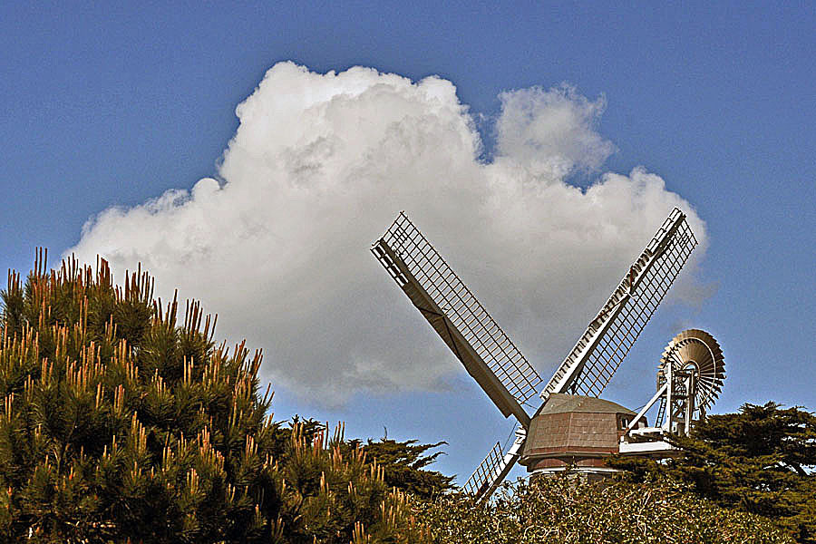 Windmill and Cloud