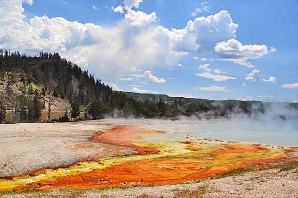 View at Yellowstone Park