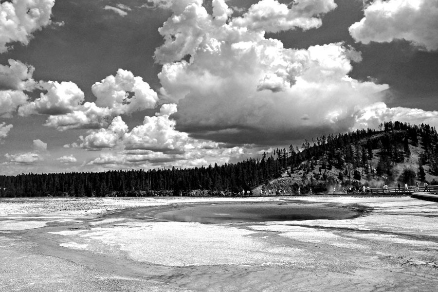 View at Yellowstone Park