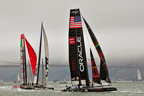 America's Cup Yacht Races on the Bay