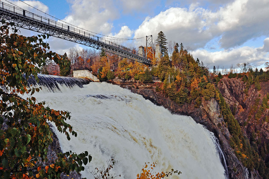 Montmorency Fall in Quebec