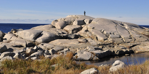 Rock at Peggy's Cove of Nova Scotia