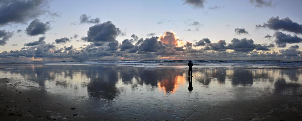 Sunset of Ocean Beach tonight