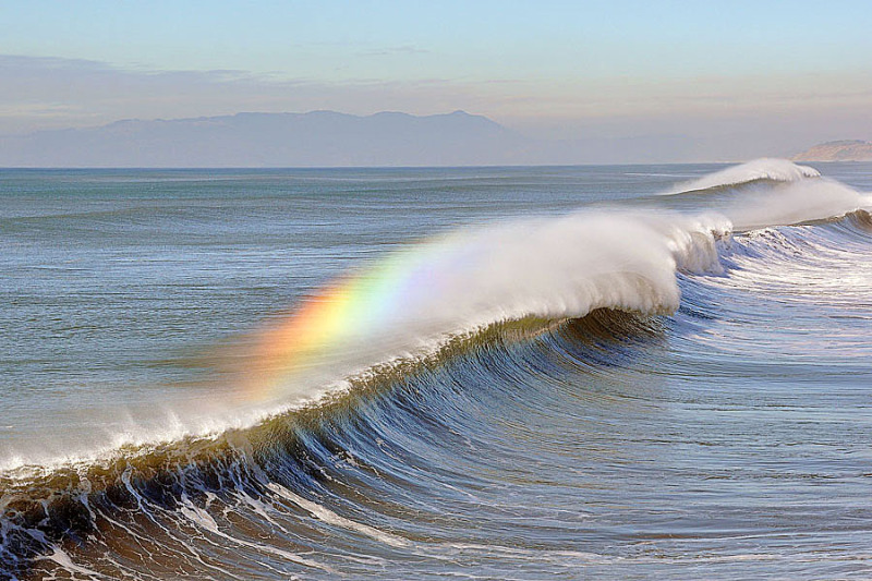 Rainbow on Waves