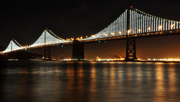 Bay Bridge night view