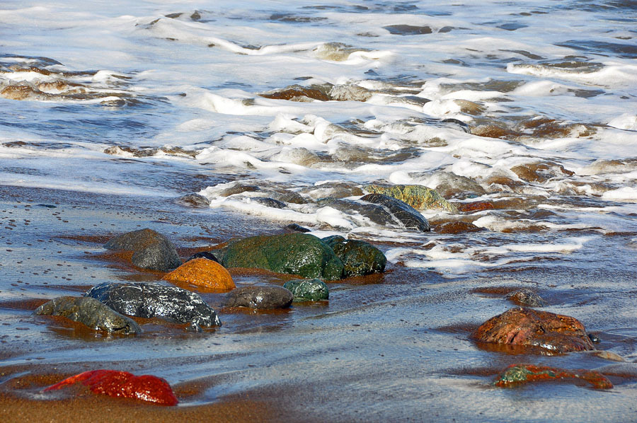 Colorful Rocks at the Beach