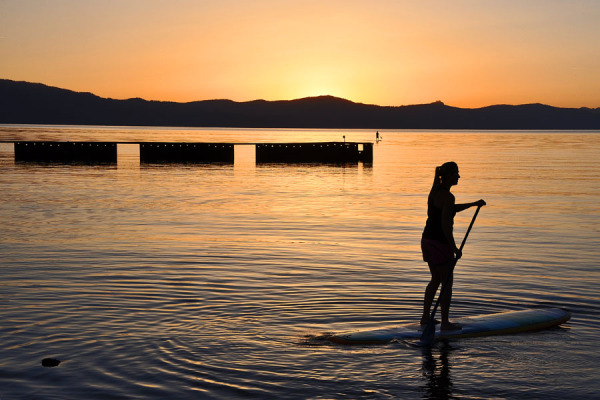 Sunset at Lakeside Beach of Tahoe