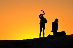 Silhouettes with Golden Sky