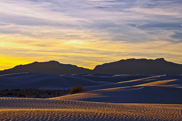 Sun down at White Sands National Monument