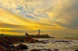 "Dawn scene "" Pigeon Point Lighthouse """