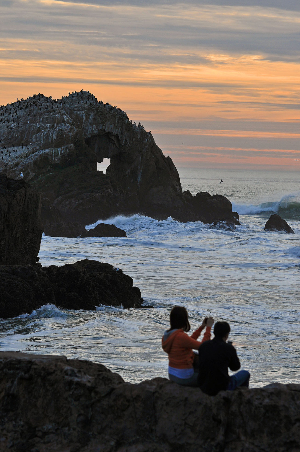 ' Heart Stone ' sunset at Sutro Baths