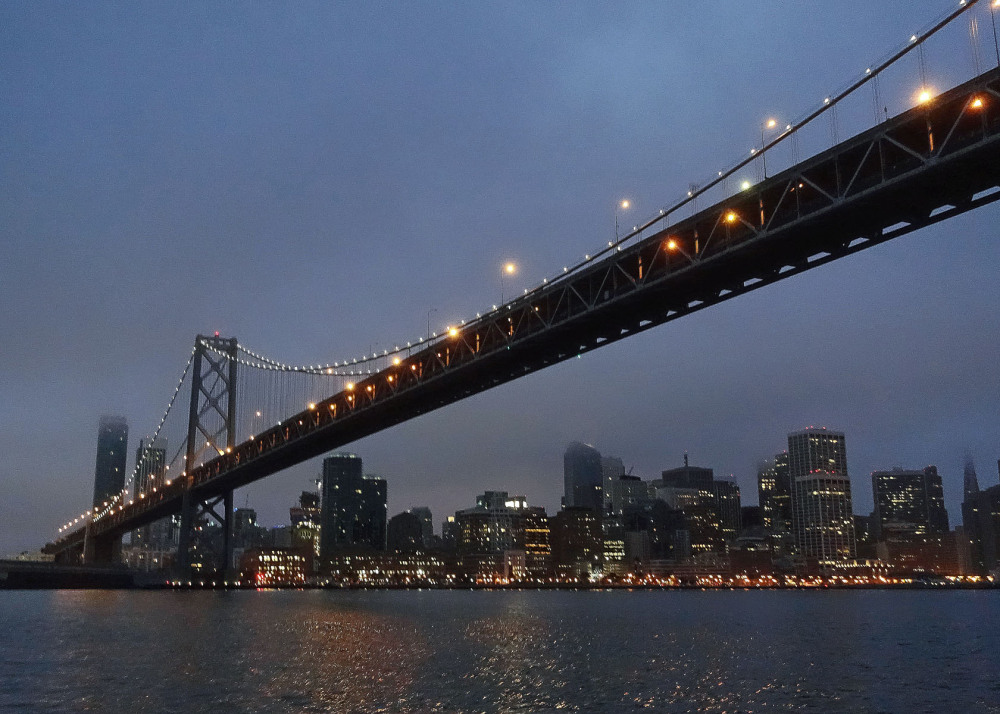 Dawn scene, ' Old Bay Bridge '