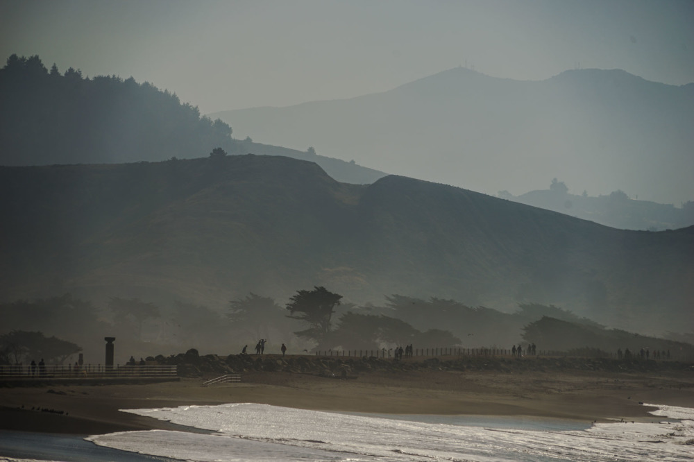 Mist view at Half Moon Bay