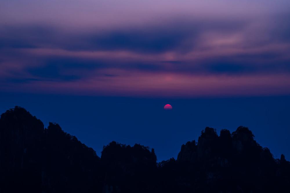 Sunset at Danxia Peak