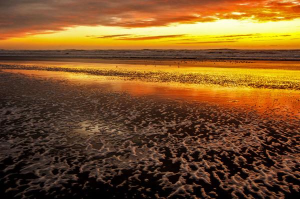 Spray & Sunset Time