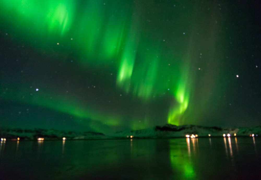 Northern Light at mountains